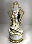 1920s Art Deco Great Gatsby Wedding Cake Topper