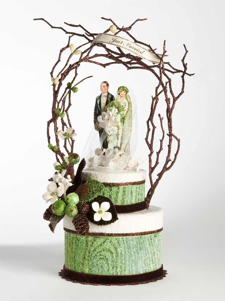 1920s Woodland Glamour Cake Topper