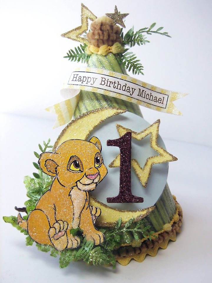 Baby Simba Birthday Hat
