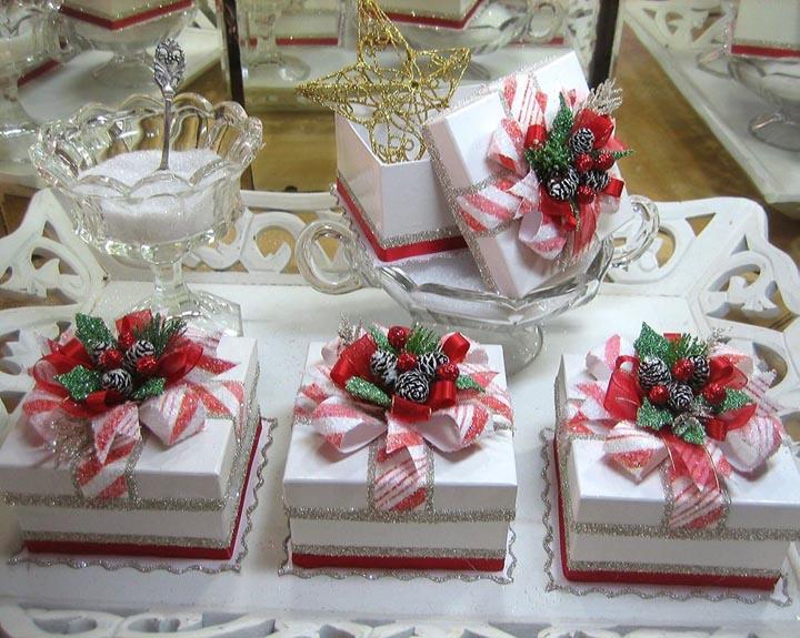 Candy Striped Glitter Gift Box