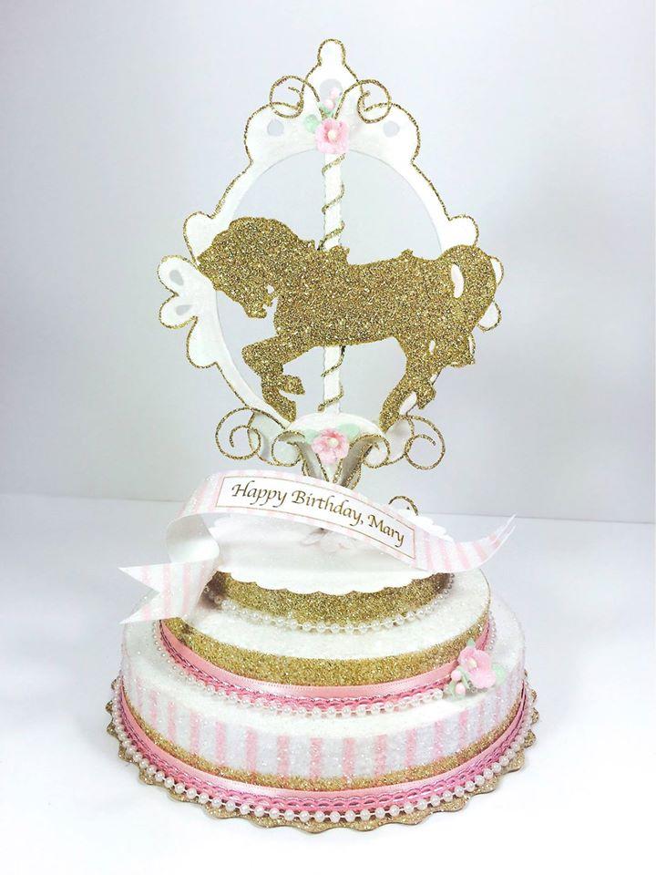 Carousel Pony Cake Topper