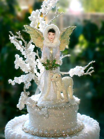 Christmas Angel Cake Topper Gift Box