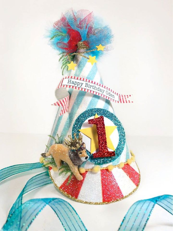 Circus Lion Birthday Hat