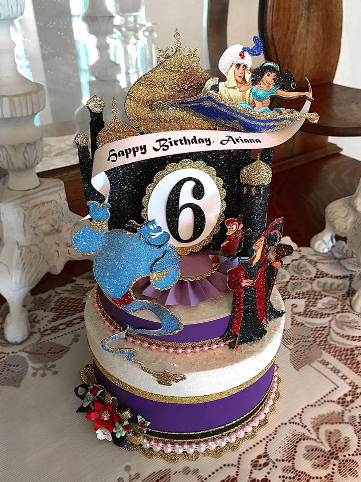 Custom Aladdin Birthday Cake Topper