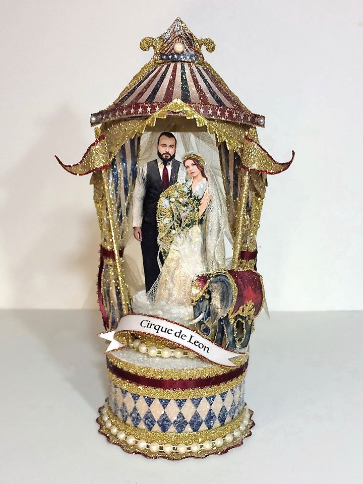 Custom Cirque De Leon Wedding Cake Topper