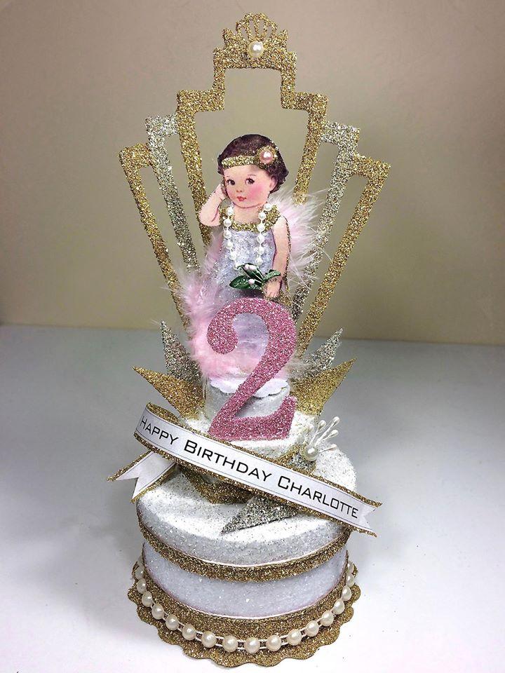 Custom Great Gatsby Child's Birthday Cake Topper