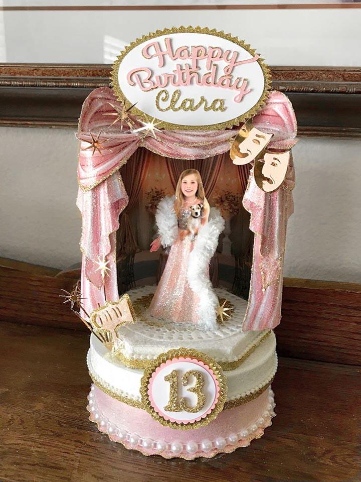 Custom Image Center Stage Birthday Cake Topper, Keepsake Box