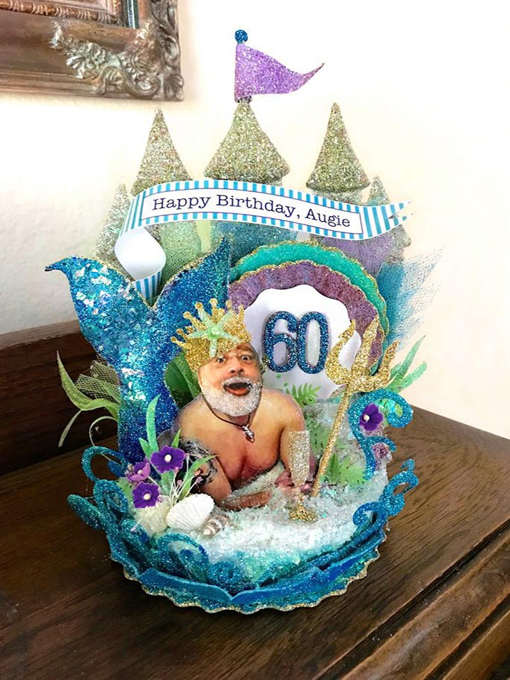Custom Image Merman Birthday Cake Topper