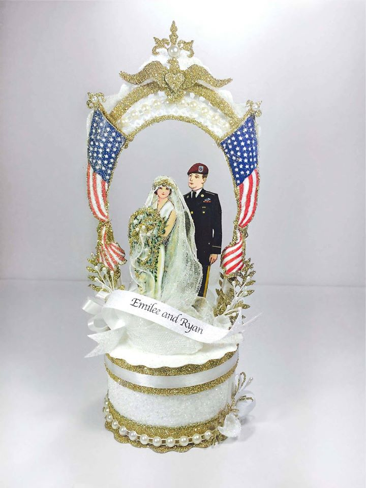 Custom Military Wedding Cake Topper