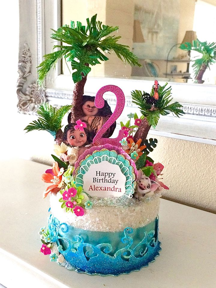 Custom Moana Birthday Cake Topper