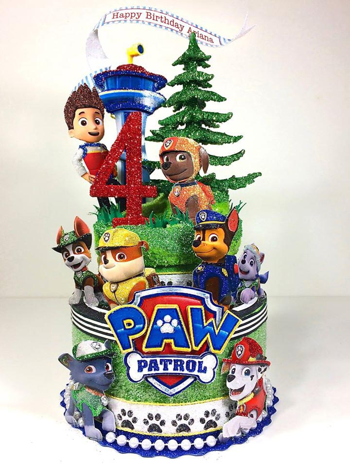Custom Paw Patrol Birthday Cake Topper