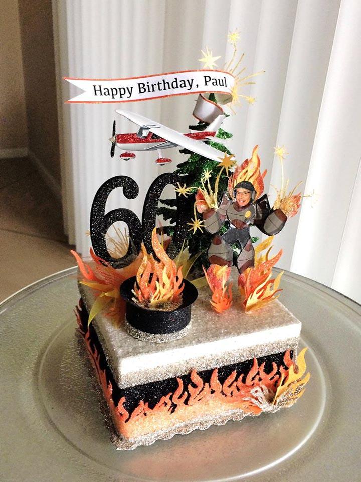 Custom Pyroman Birthday Cake Topper