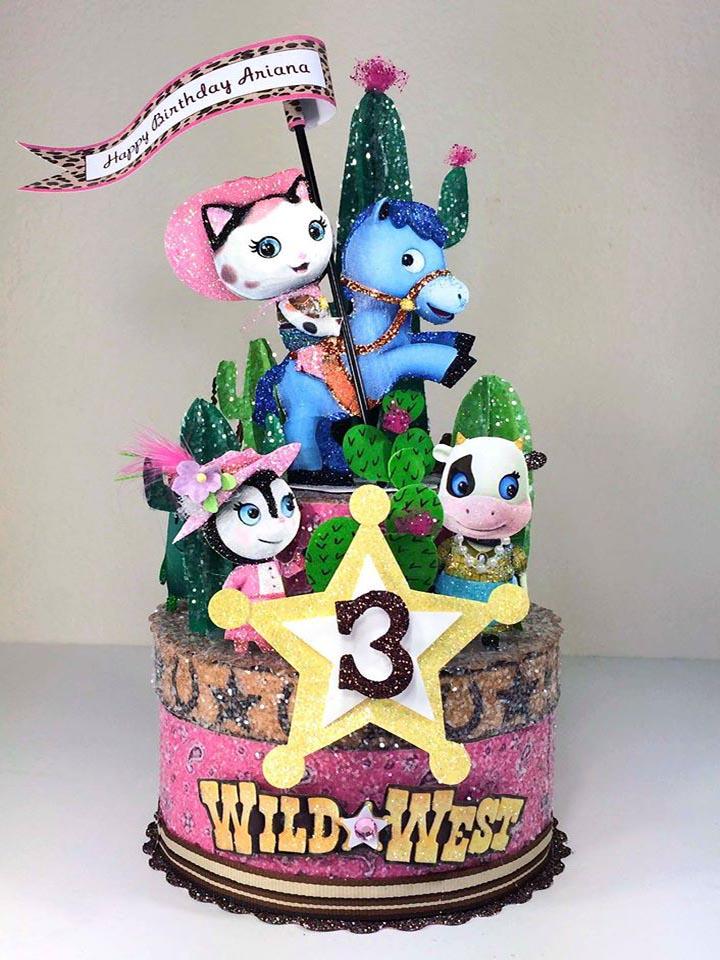 Custom Sherif Calle Birthday Cake Topper