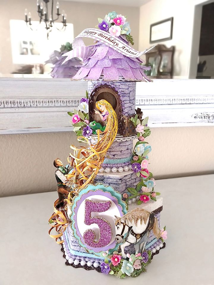 Custom Tangled Fairytale Birthday Cake Topper