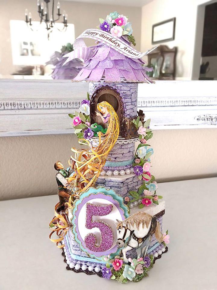 Custom Tangled Fairytale Birthday Cake Topper
