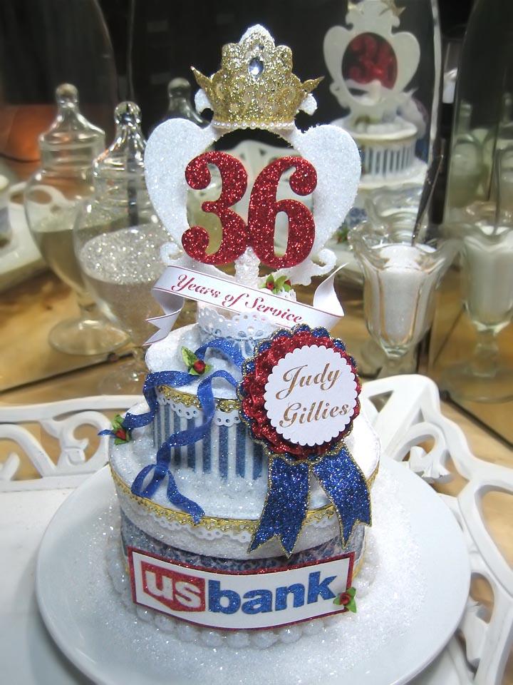 Custom US Bank Cake Topper