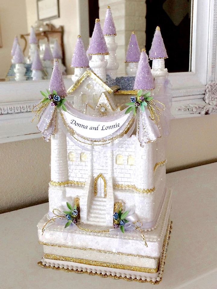 Custom Wedding Castle Cake Topper