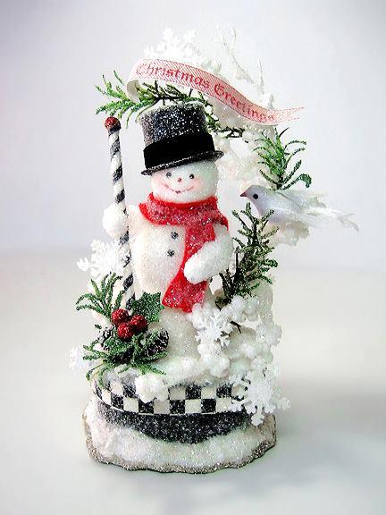 Dapper Snowman Cake Topper Gift Box
