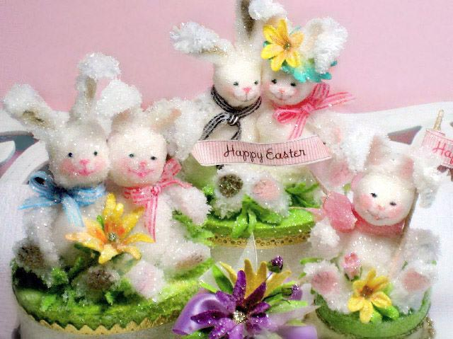 Easter Bunny Cake Toppers Gift Boxes