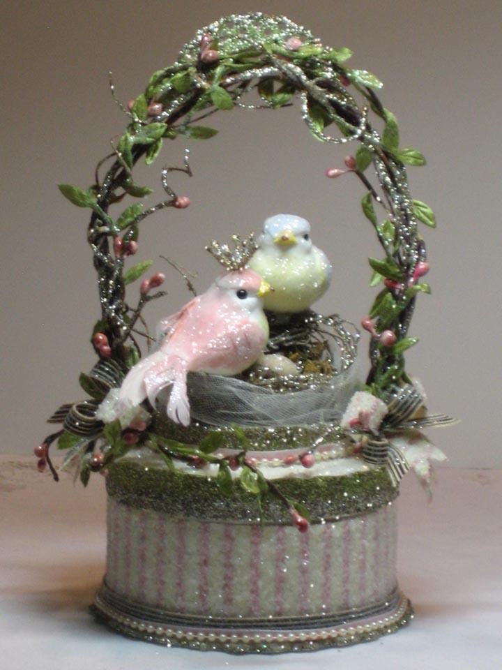 Garden Nesting Love Birds