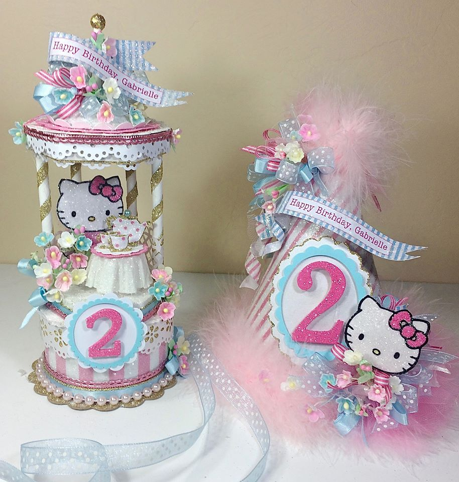 Hello Kitty Cake Topper Party Hat