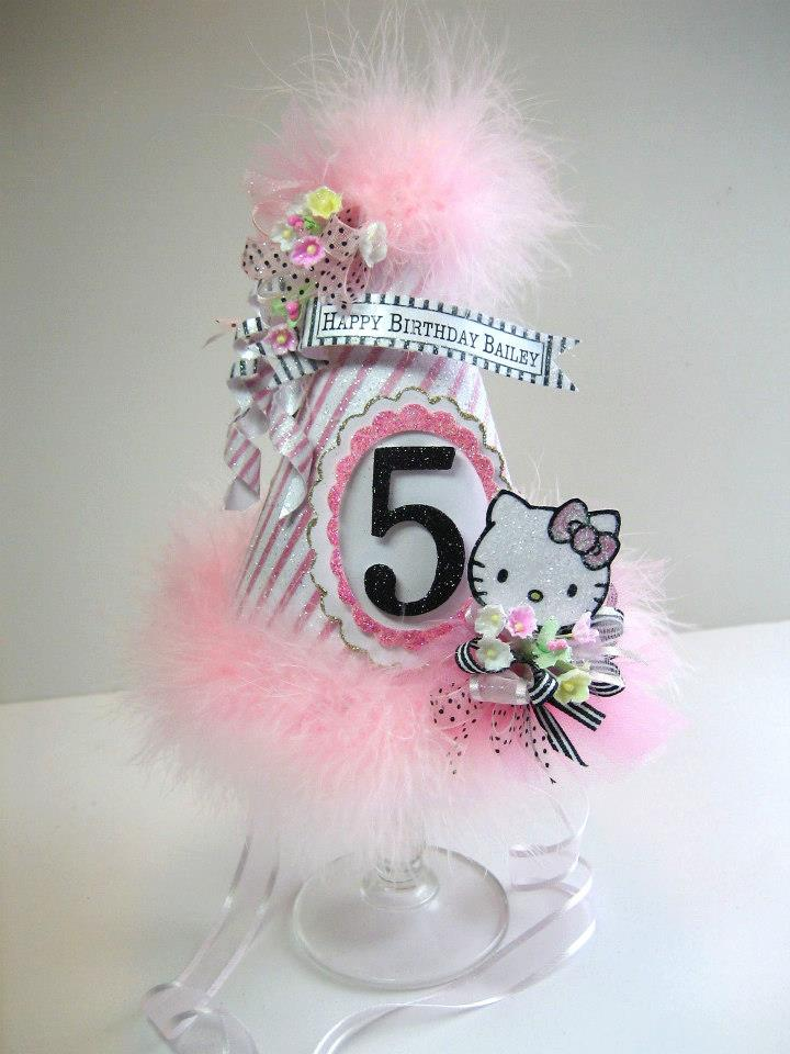Hello Kitty Custom Birthday Party Hat