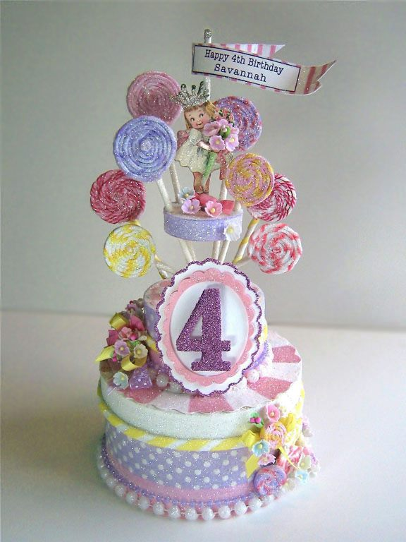 Lollipop Birthday Cake Topper