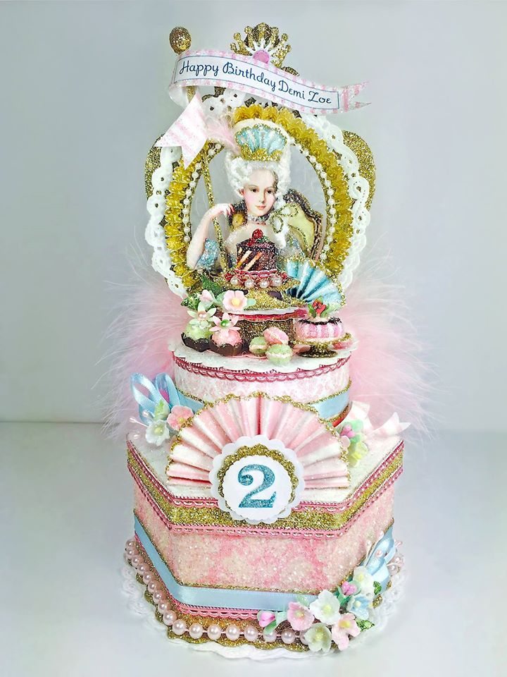 Marie Antoinette Custom Cake Topper, Keepsake Box