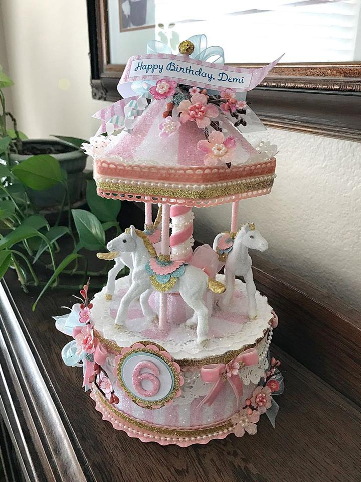 Mary Poppins Inspired Custom Carousel Cake Topper