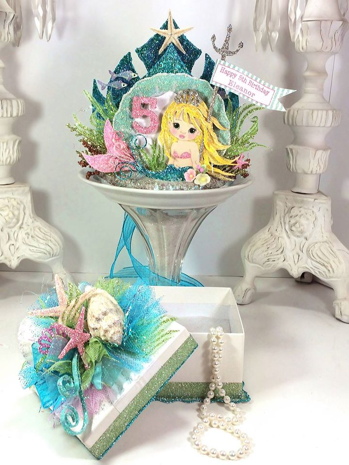Mermaid Crown And Gift Box Under The Sea Birthday Set