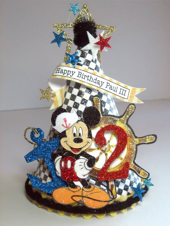 Nautical Mickey Birthday Hat