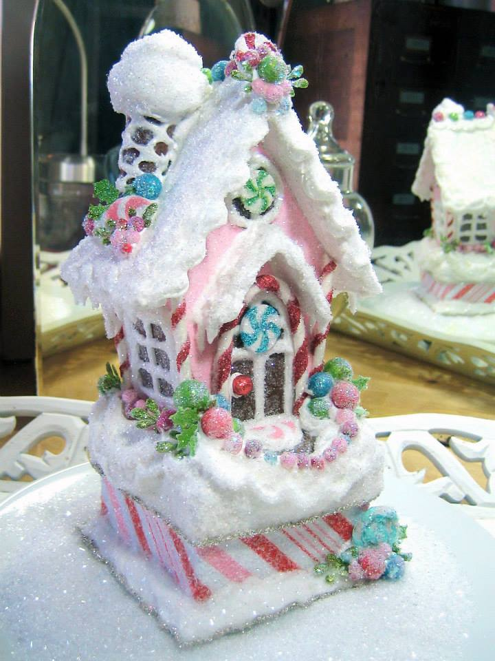 Pink Gingerbread Glitter House
