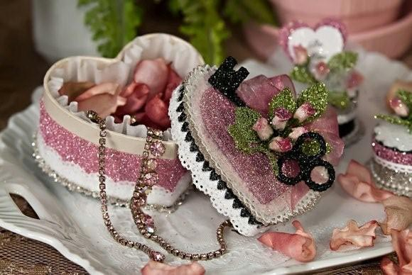 Pink Valentine Glitter Box