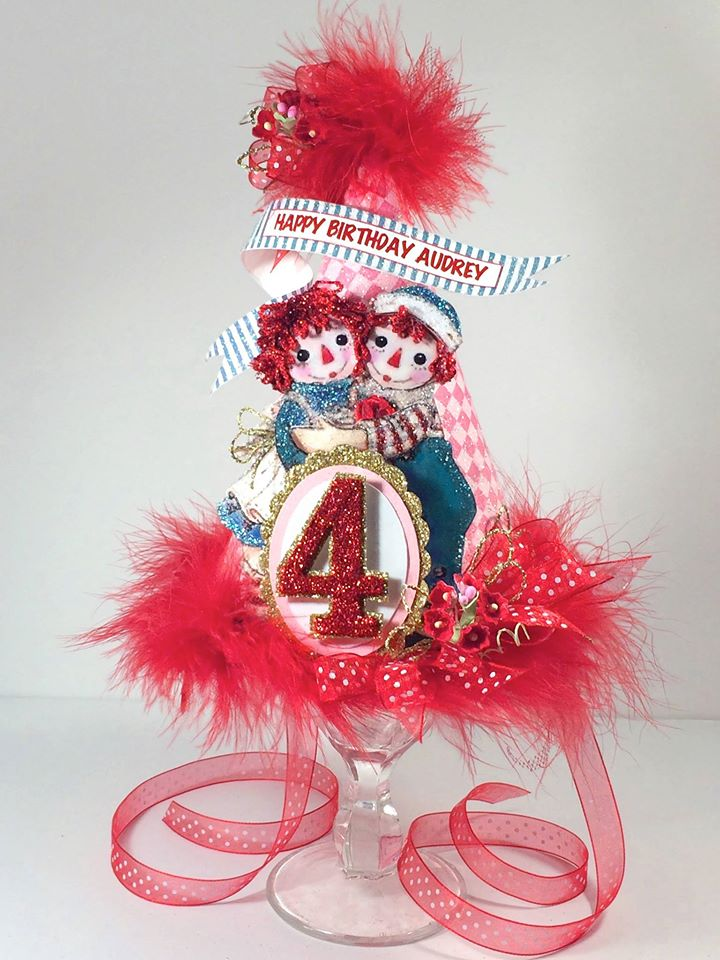 Raggedy Ann And Andy Custom Birthday Hat