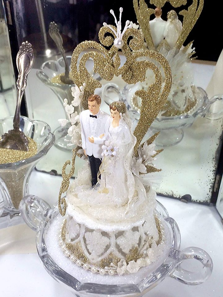 Re Designed Vintage Cake Topper