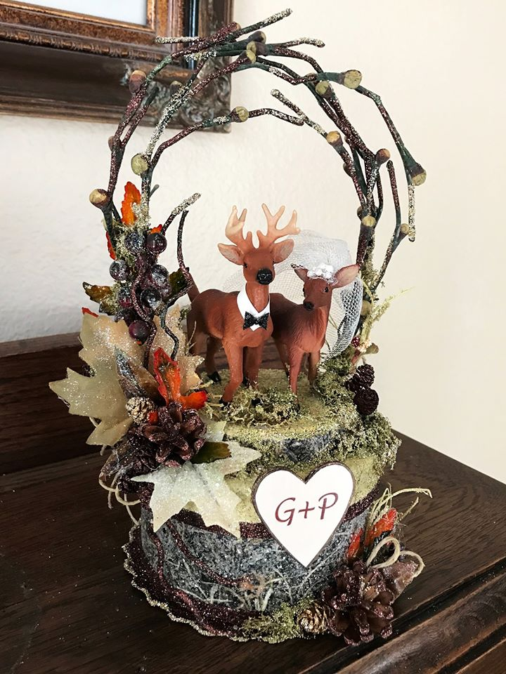 Realtree Camo Deer Wedding Cake Topper