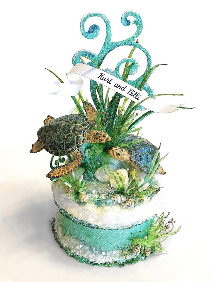 Sea Turtle Wedding Cake Topper