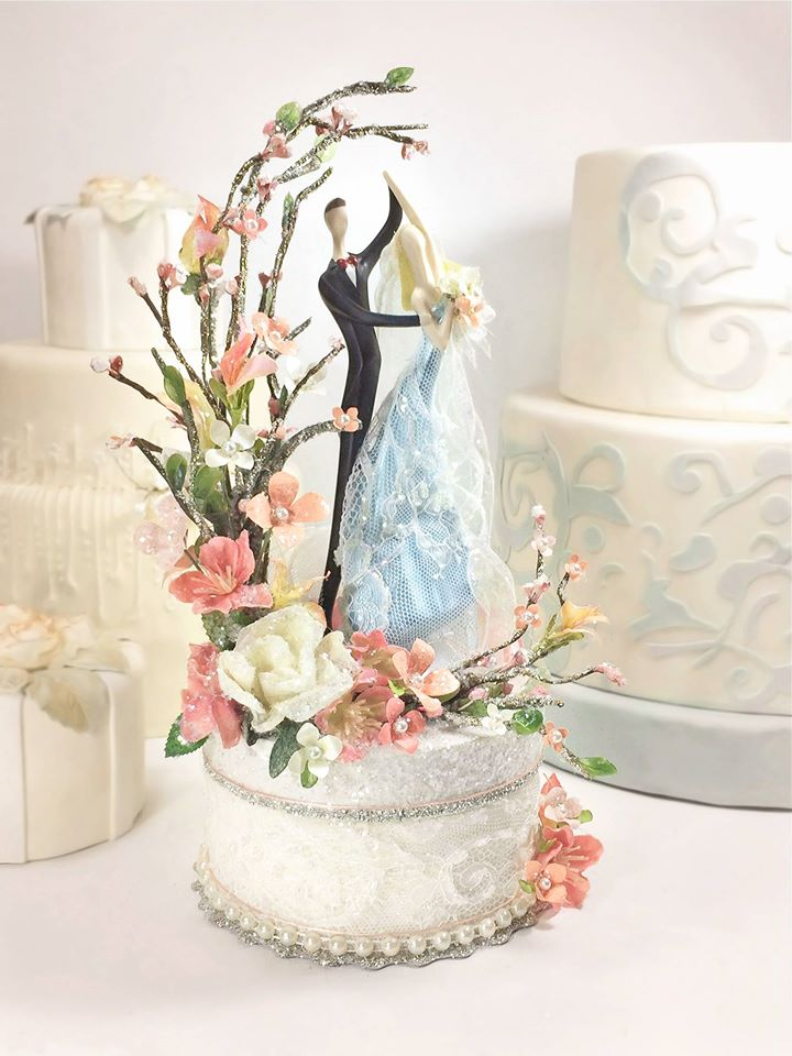 Secret Garden Dance Custom Wedding Cake Topper