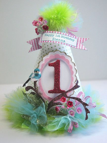 Spring Garden 1st Birthday Hat