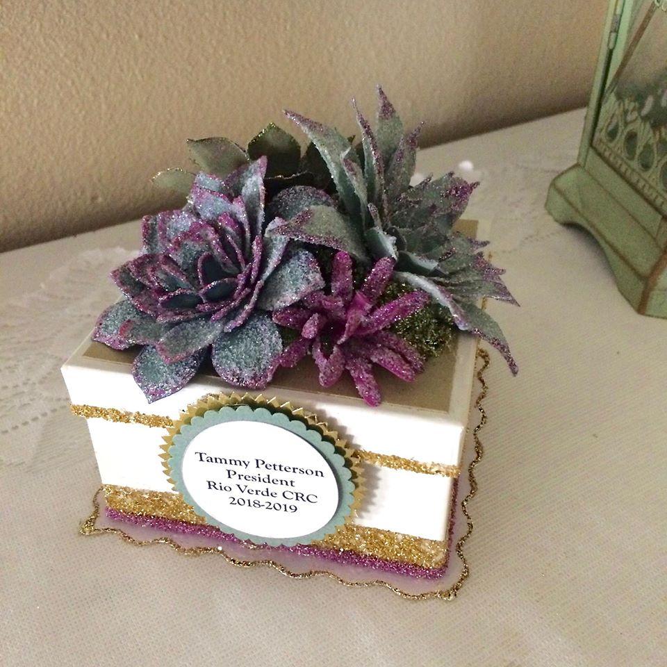 Succulent Glitter Gift Box