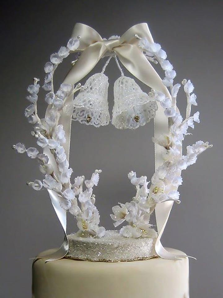 Vintage Wedding Bells Cake Topper
