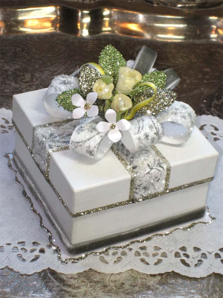 Yellow Rose Favor Gift Box